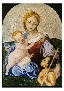 mosaico Madonna con gesu bambino e san giovanni battista miramosaici